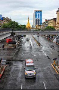 Lockdown in Yangon