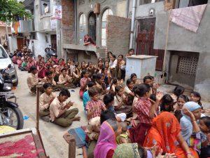 Activities in slum