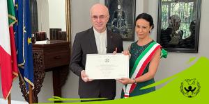 ONORIFICENZA DELL'ORDINE DELLA STELLA D'ITALIA AL NOSTRO DIRETTORE PAESE LIVIO MAGGI